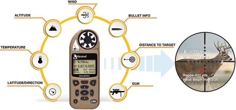 Kestrel Ballistics - Hunting Inforgraphic
